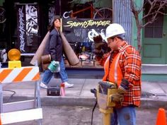 Elaine and George hard at work..