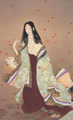 Paintings of Uemura Shoen , I have seen these  paintings at an exhibition in  Japan and they were amazing.  About 8' tall and 4' wide.