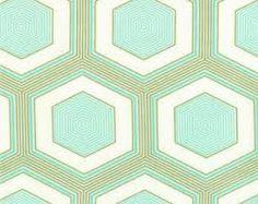 gold hexagonal fabric - Google Search