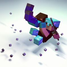 Explosion that takes both Jake and Herobrine out! #Minecraft #Minecraftonly #Animation