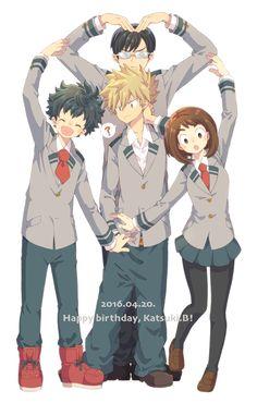 Boku No Hero Academia/My Hero Academia | Midoriya Izuku, Uraraka Ochako, Iida Tenya, Bakugou Katsuki