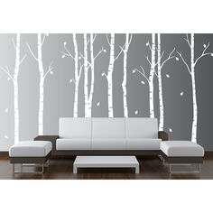 Birch Tree Wall Decal Nursery Forest Vinyl Sticker Removable Animals Branches Art Stencil Leaves 9 Trees 1263 Matte White 108 Tall -- You can get more details by clicking on the image. Birch Tree Wall Decal, Tree Wall Murals, Tree Decals, Wall Art, Vinyl Decals, Vinyl Art, Birch Tree Mural, Birch Branches, Nursery Stickers