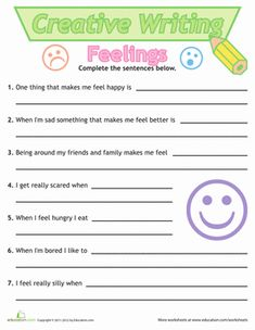 the creative writing my feelings A news article, for example, cannot be considered creative writing because its main goal is to present facts and not to express the feelings of the writer while a news article can be entertaining .