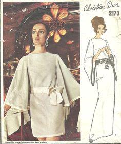 Vogue 2175 // Paris Original // Vintage Designer Sewing Pattern by Christian Dior // Dress // Size 14 Bust 36