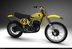 1974 Suzuki RH Works racer...... 69 reminds me of someone who rode a Montessa dirt bike in the 70's.........mmmmmmmmmmmmm