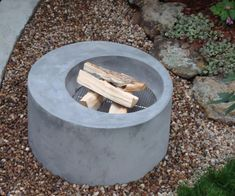 Concrete Pete! Seriously, this is a gorgeous fire pit. You've outdone yourself! #fireplace #firepit #fire