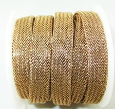 Cordón metalico de 10mm, color oro brillo