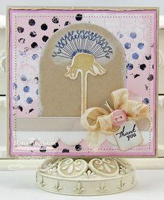 Dandelion Wishes; Distressed Background Blocks; Dandelion Stems and Toppers Die-namics; Notched Tag Die-namics; Mini Chicken Wire Stencil - Mona Pendleton