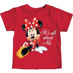 Minnie Mouse Baby Toddlers It's All About Me T-Shirt