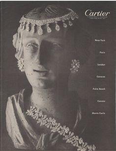 Magazine ad Cartier jewelry 1950s