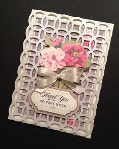 Elegant and Floral ShabbySweet Thank You par PinkPetalPapercrafts, $7.00
