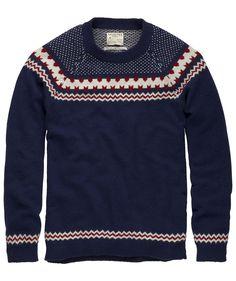 Sattelt die Rentiere! Wollpulli mit Norwegermuster von Selected Homme.  #sweater #fairisle