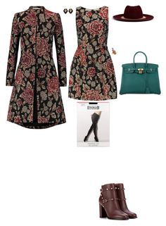 """Day of lectures at school"" by stylev ❤ liked on Polyvore featuring Alice + Olivia, Wolford, Valentino, Katerina Makriyianni, Venna, Diego Percossi Papi and Hermès"