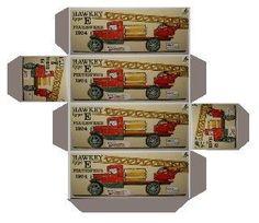 Construction Truck paper box Printable