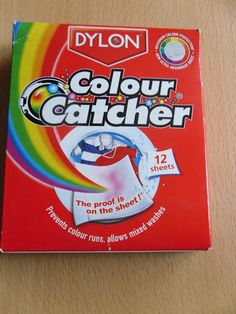 I received a box of Dylon Colour Catcher's which were a relief as I had recently hand dyed a t-shirt with Dylon hand dye and was worried about just how much dye might come out in the wash and all over my clothes.