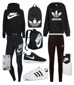 """""""NIKE vs. ADIDAS"""" by elaism ❤ liked on Polyvore featuring adidas Originals, NIKE, adidas, Topshop and Casetify"""