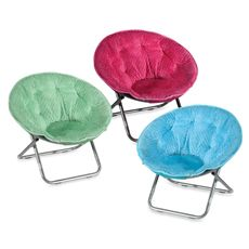 Wonderful Dotted Plush Saucer Chair