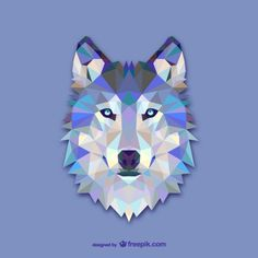 Triangle wolf design Free vector download.