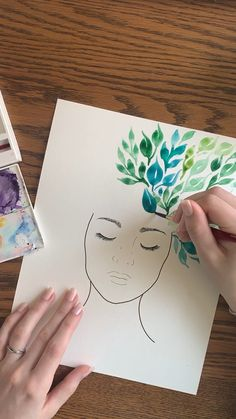 Tattoo Hand Videos Old School - RetroModa Watercolor Paintings For Beginners, Canvas Painting Tutorials, Watercolor Art, Watercolor Sunflower, Easy Canvas Art, Small Canvas Art, Art Drawings Sketches Simple, Flower Art, Artsy