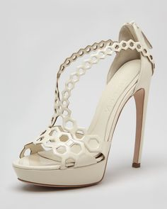 Double-Arched Honeycomb Sandal by Alexander McQueen
