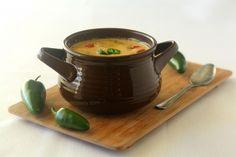 Roasted Jalapeno Soup #SundaySupper