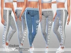 The Sims Resource: Athletic Pants 010 by Pinkzombiecupcake • Sims 4 Downloads