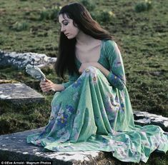 Young love: Angelica Huston at 16 in 1968, just before she met James Fox who would break her heart