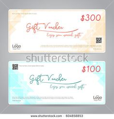 Gift Card Or Gift Voucher Template With Shiny Red Bows And Ribbons