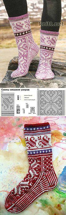 Носки с жаккардовым узором | knitt.net | Все о вязании