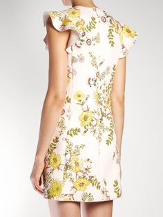 Floral-print ruffled crepe dress   Giambattista Valli   MATCHESFASHION.COM