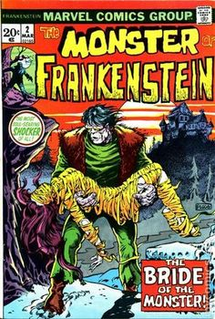 THE MONSTER OF FRANKENSTEIN 1, BRONZE AGE MARVEL COMICS
