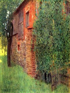 GUSTAV KLIMT FARMHOUSE IN CHAMBER IN ATTERSEE OLD ART PAINTING AFFICHE 1098OM