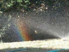 #arcobaleno innaffiando