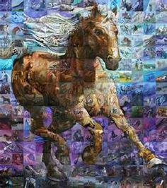 Wild Horse! Magnificent ! Notice that every square has a horse on it!  Wow!