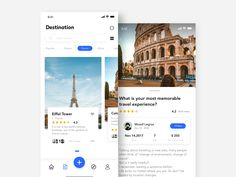 Travel application interface by What are the best travel apps? Ui Design Mobile, App Ui Design, Flat Design, Interface Web, User Interface Design, Best Mobile Apps, Best Travel Apps, City Pass, Website Design Layout