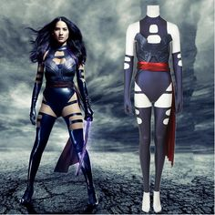 X-Men Apocalypse Cosplay Psylocke Costume Superhero Psylocke Leather Jumpsuit Outfit X-Men Costume Halloween Costume Custom Made