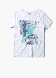 Bedrucktes baumwoll-t-shirt - T-shirts für Herren | MANGO Man Deutschland