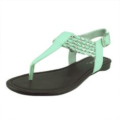 eaa4364766f9db Qupid Women s Agency324 Leatherette Braided T-Strap Flat Sandal    See this  great product