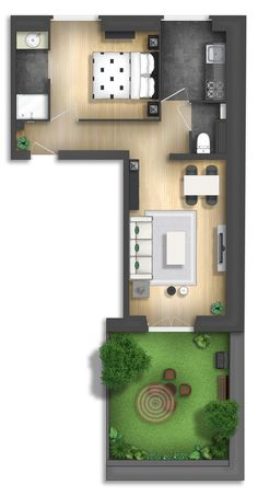 apartment floor plans Floor plan rendering by on DeviantArt Floor plan rendering by Layouts Casa, House Layouts, Small House Plans, House Floor Plans, Studio Apartment Layout, Apartment Floor Plans, Small House Design, Minimalist Home, How To Plan
