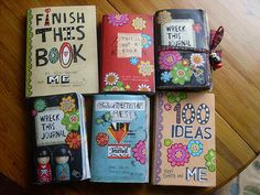 Make a 100 page book & write on two pages with pictures & stuff for each of my 100 ideas .