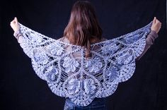 Handmade triangle shawl / blue scarf/ blue and by CrochetZone, $59.99 --- crochet by my best friend :)