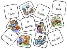Jeu de mémory métiers anglais Flashcards Anglais, English Lessons, Learn English, English Games, Cycle 2, Jobs, Teaching English, Preschool Activities, Classroom