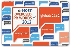 The most overused PR words in press releases in 2012 #PR #PublicRelations  - epublicitypr.com