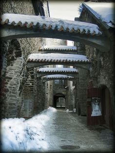 Catherine´s passage, Tallinn, Estonia