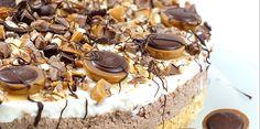 Evas Backparty : cremige Toffifee – Torte ( ohne zu Backen ) Eva's Backparty: creamy Toffifee – cake (without baking) Easy Smoothie Recipes, Snack Recipes, Snacks, Torte Au Chocolat, Homemade Frappuccino, Coconut Recipes, Fall Desserts, Savoury Cake, Ice Cream Recipes