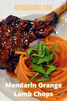 Every bite of these mandarin orange lamb chops is a taste of nirvana! Yes, the subtle sweetness of the mandarin oranges and the savory chop! Yes, heaven! #lambchop #lambchoprecipe Easy Lamb Recipes, Healthy Recipes, Breakfast Recipes, Dinner Recipes, Dinner Ideas, My Favorite Food, Favorite Recipes, Mandarin Oranges, Mozzarella Chicken