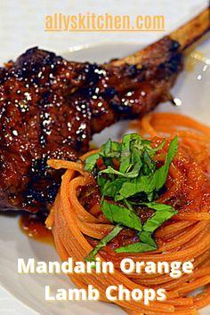 Every bite of these mandarin orange lamb chops is a taste of nirvana! Yes, the subtle sweetness of the mandarin oranges and the savory chop! Yes, heaven! #lambchop #lambchoprecipe
