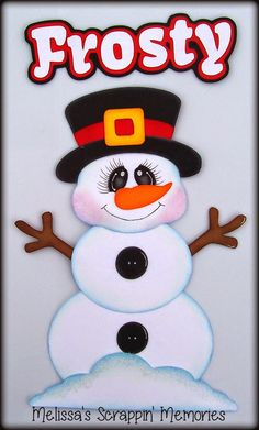 Frosting The Snowman Paper Piecing
