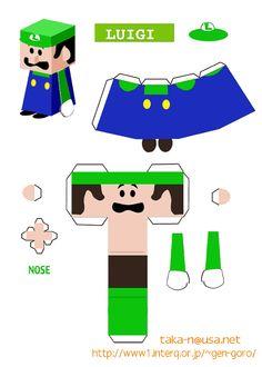 Super Mario papercrafts