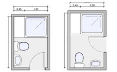 types of bathrooms and layouts | small bathroom plans
